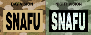 SNAFU MAGIC BLACK ON TAN NIGHT VISION