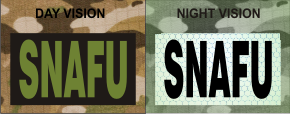 SNAFU GREEN ON MAGIC BLACK NIGHT VISION