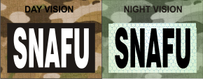 SNAFU WHITE ON MAGIC BLACK NIGHT VISION