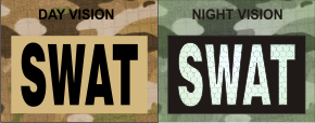 SWAT MAGIC BLACK ON TAN NIGHT VISION