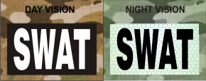 SWAT WHITE ON MAGIC BLACK NIGHT VISION