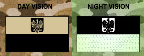POLAND FLAG TAN PLUS IR MAGIC BLACK SOLASX PATCH