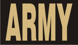 TAN ON BLACK ARMY PATCH