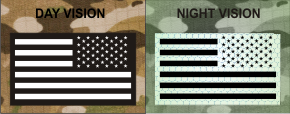 USA REVERSE WHITE ON MAGIC BLACK NIGHT VISION
