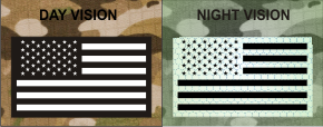 USA RIGHT WHITE ON MAGIOC BLACK NIGHT VISION
