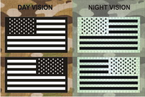 USA WHITE ON MAGIC BLACK SET NIGHT VISION