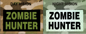 ZOMBIE HUNTER GREEN ON MAGIC BLACK NIGHT VISION