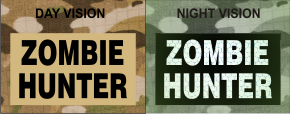 ZOMBIE HUNTER MAGIC BLACK ON TAN NIGHT VISION