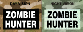 ZOMBIE HUNTER WHITE ON MAGIC BLACK NIGHT VISION