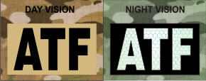 atf magic black on tan night vision