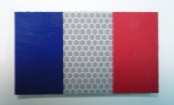 FRANCE RED PLUS BLUE ON SOLAS 3 1/2 X 2