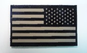 USA LEFT CLOSE SIDES TAN ON MAGIC BLACK 2 1/8 X 3 1/2