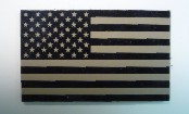 USA RIGHT OLD TAN ON MAGIC BLACK IMAGE GOES TO EDGE 3 1/2 2 1/8