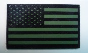 USA RIGHT OD GREEN ON MAGIC BLACK 3 1/2 X 2 1/8