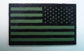 USA OD GREEN ON MAGIC BLACK 3 1/2 X 2 1/8