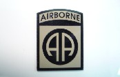 AIRBORNE MAGIC BLACK ON TAN 2 1/2 3 3/8