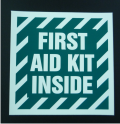 first aid kit inside decal