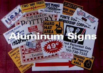 aluminum signs come with logos and and real estate and promotional outdoor silk screen printing