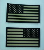 set of ir solas flag patches tan
