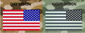 usa left red plus blue night vision