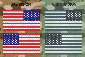 usa right plus left red plus blue night vision