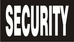 SECURITY WHITE ON BLACK PCX PATCH