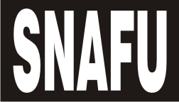 SNAFU WHITE ON BLACK PCX PATCH