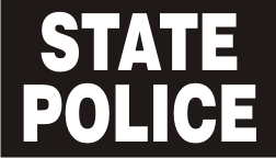 STATE POLICE WHITE ON BLACK PCX PATCH